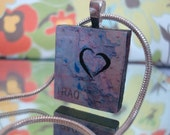 My Heart is Serving in Iraq Scrabble Tile Pendant
