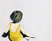 SALE  24x36 Girl in the Yellow Suit Limited Edition