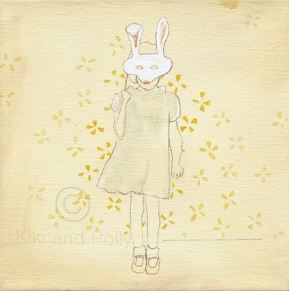 Girl With Rabbit Mask Scary Stock Photos Images