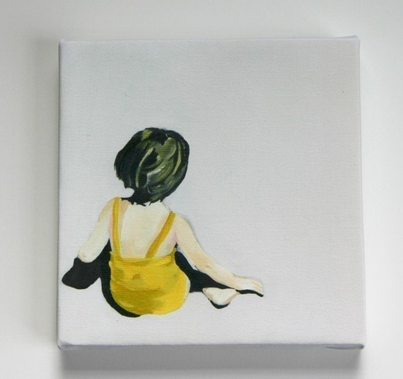 Girl In The Yellow Suit canvas print