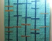 SALE Modern Art Quilt, Wall Hanging, textile art, fiber art, art quilt, Line by line no 1