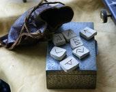 Runes-Runes Set-Runestone Elder Futhark-Stoneware Runestone Set-Handmade Runestones- Runic stone set-Runestone-Runes