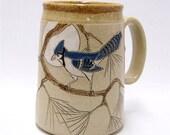 RESERVED campingchi Blue Jay  Mega Pottery Coffee Mug Limited Series 11