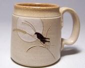 Cricket and Moon Pottery Coffee  Mug Limited Series 164