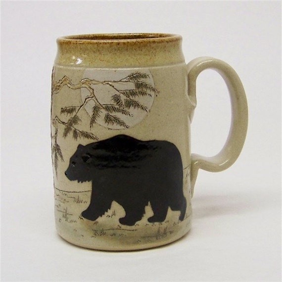 Limited Series 177 Bear and Tree Mega Mug (microwave safe)