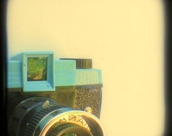 Diana Camera Photo 5x5 TtV Camera Art Print Toy Camera Lomography Pale Blue Retro Geekery Home Decor Still Life Photography Wall Decor