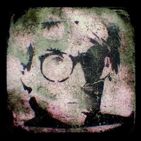 Andy Warhol Print 4x4 TtV Graffiti Photo - Stencil Art - Urban Street Art Photography - Pink - Green - Black - 60s Pop Culture Home Decor
