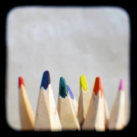 2 Minute Doodles - Colored Pencils - TtV Photography Print