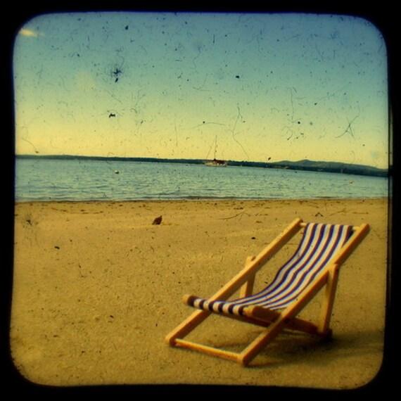 Beach Photo Print Endless Summer Sea Breeze Beach Chair Golden Sands Coastal Living Lazy Hazy Summer Days Relaxing Beach Photography
