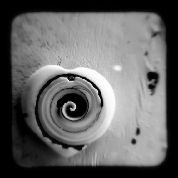Love Art Print 5x5 Heart Photo - Black and White Love Photograph - Romantic Gift, Wall Art