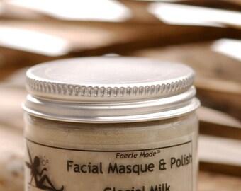 Natural Dry Facial Masques/Polish Glacial Milk