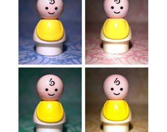 Baby - Blue, Pink, Green or Yellow - Photograph - Various Sizes