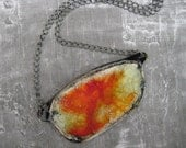 Vivacious Orange, Yellow and Black Pendant