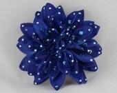Royal Blue Dahlia Hair or Anywhere Clip
