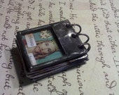 Soldered Stained Glass Miniature Journal Collage Art Book -- Prayer Journal--No.4