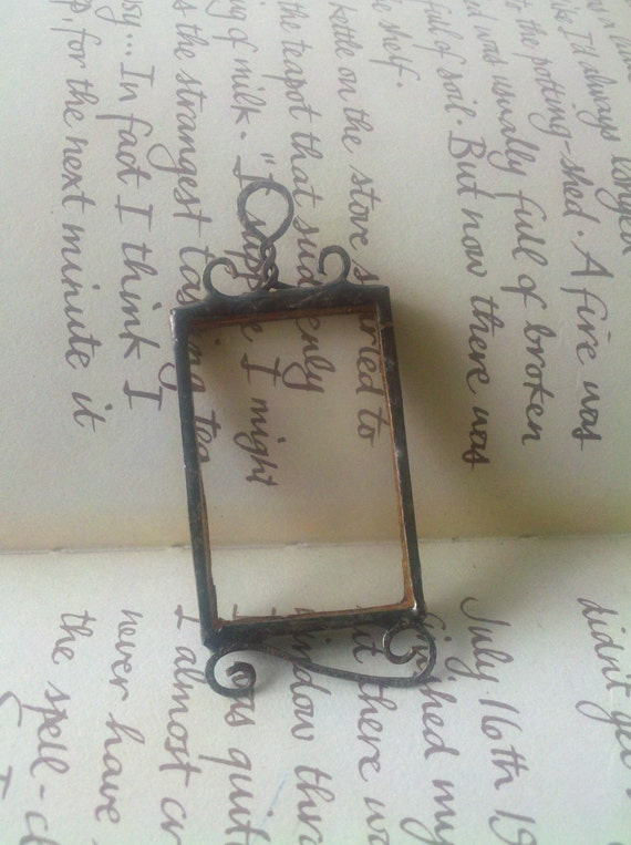 Picture Frame Stained Glass Pendant Soldered Charm