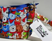 Dog and Cat Chow Time Padded Zipper Bag Wristlet