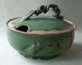 Tureen - Serving Dish Matte Green and Purple Awesome