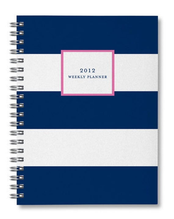 2012 Stripe Weekly Planner