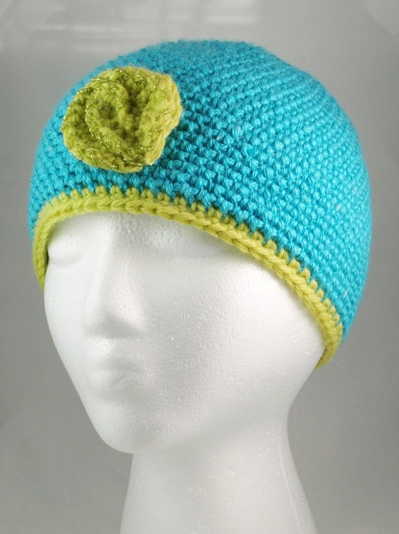 Cute turquoise hat