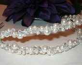 Double Alice Band Tiara with Crystal Accents