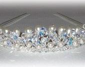Crystal Princess Tiara With Pearls