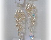 Column Earrings in Ivory and Clear AB