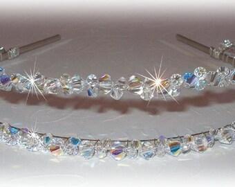 Crystal Double Band Tiara