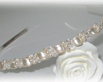Wave Pearl Tiara or Headband