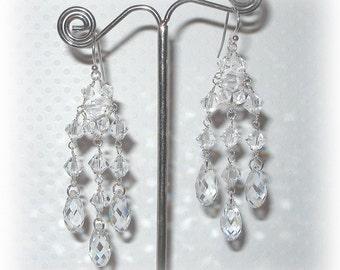 Clear Earrings Long Teardrop Cubic Zirconia Dangle Earrings White Crystal Earrings Bridesmaid Gift Hypoallergenic Wedding Jewelry
