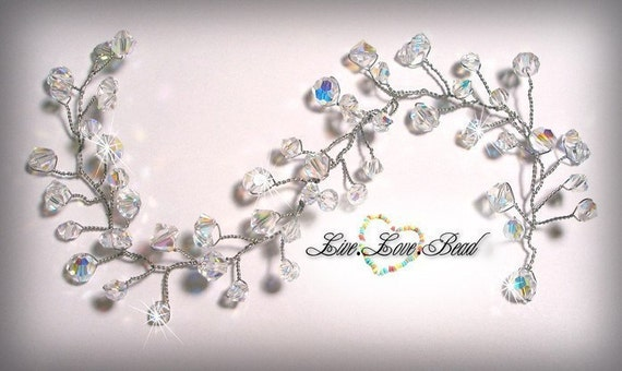 Swarovski Crystal Bridal Hair Vine
