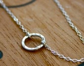 Eternity necklace endless love - simple sterling silver jewelry - infinity necklace - circle necklace