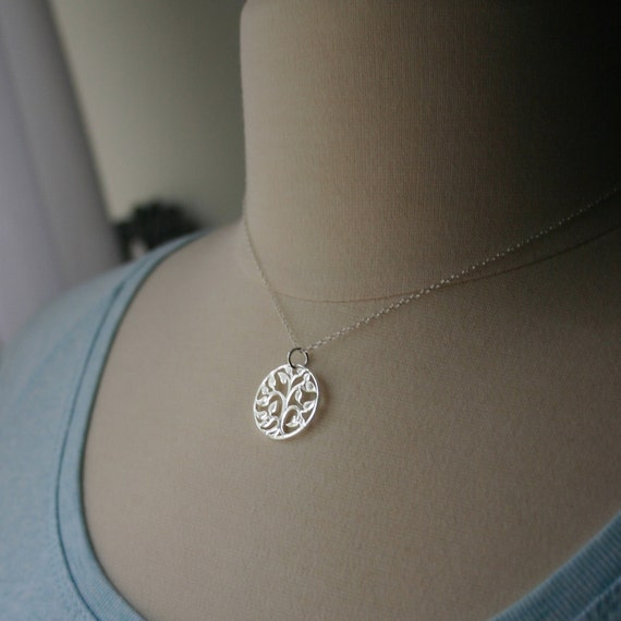Tree of life necklace - Family tree charm necklace