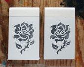 2 Small Rose Print Notebooks