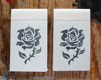 2 Small Rose Print Notebooks