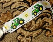 John Deere Tractor Pacifier Clip