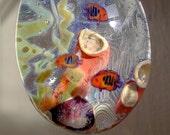 DEEP SEA PARADISE Glass Pendant with Detailed Fish, 3D Coral, Glow in the Dark Plantlife ~ Original Lampwork Boro Aquarium Jewelry HLHglass