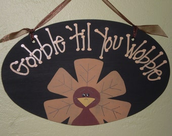 Gobble Til You Wobble Turkey Pattern