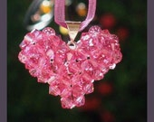 Pink Swavorski Crystal Heart Pendant