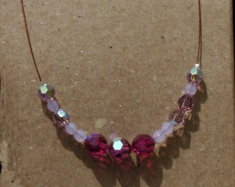 Beautiful Swavorski Pink Crystal Necklace.