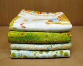 Heather Ross - Far Far Away in Green - Double Gauze Quilting Fabric - Fat Quarter Set