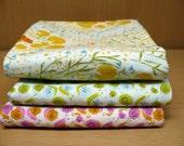 Heather Ross - Far Far Away set of 3 - Double Gauze Quilting Fabric - Fat Quarter Set