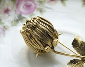 FREE SHIPPING Vintage Bud Brooch