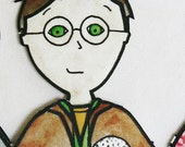 Harry Potter Paper Dolls - Harry, Ron, Hermione, and Ginny