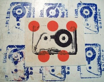 cassette tape dots patch 4X3