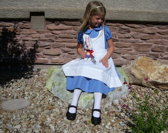 Alice in Wonderland, Custom Girl's Costume, Sizes 3-8