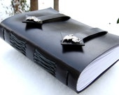 Leather Journal Book - Black Dragons