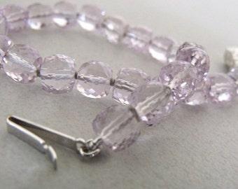 Amethyst bracelet.