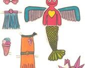 Paper Doll Kit - Voodoo Susan is a mermaid PDF