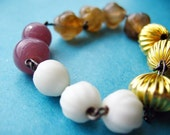 SALE - MEMORIE BRACELET - assortment of glass, acrylic and metal beads in gorgeous colours